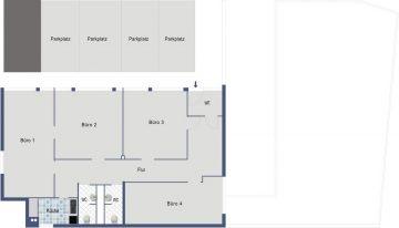 Ideale Büro-/Praxis-/Therapieräume zu verkaufen 73230 Kirchheim Jesingen, Bürozentrum